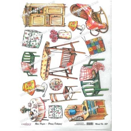 دکوپاژ برنجی کادنس کد 027