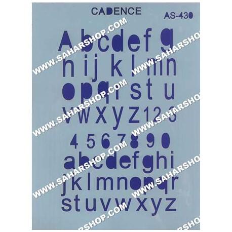 شابلون استنسیل کادنس AS-430