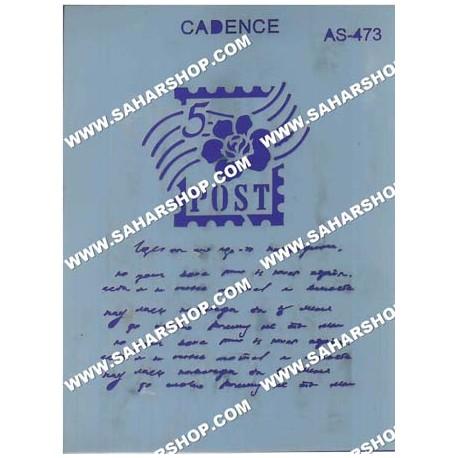 شابلون استنسیل کادنس AS-473